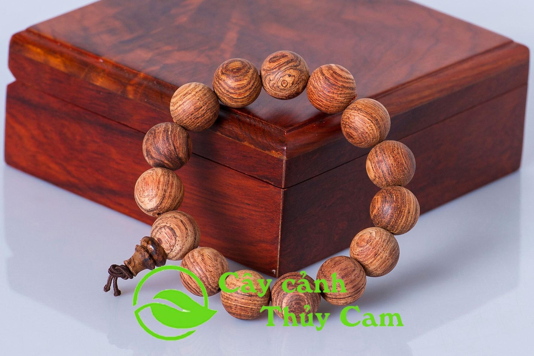 Vòng tay gỗ sưa đỏ được nhiều người lựa chọn để mang lại may mắn